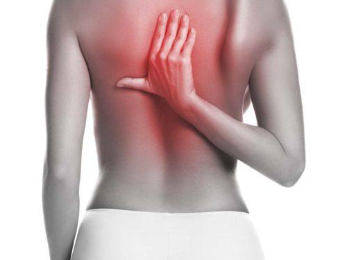 болевые ощущения в спине, область лопаток